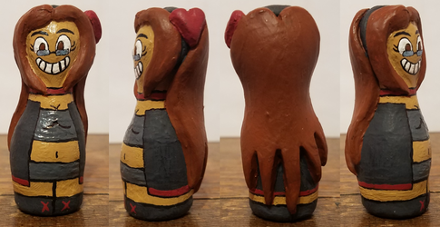 Bowling Pin Zero Sculpture by ZeroConfidence
