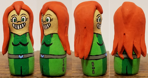 Bowling Pin Sam Sculpture by ZeroConfidence