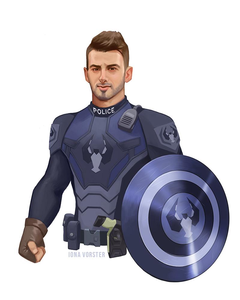 Captain America/Police Officer Mashup by Iona-Vorster