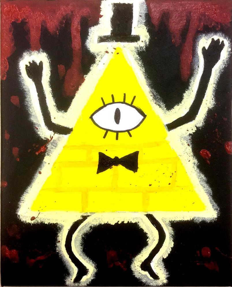 Bill Cipher painting by CreepypastaJTK