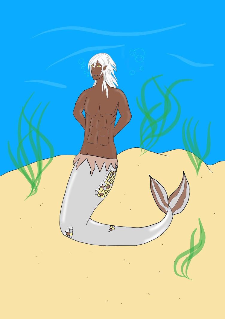 Kiba is a merman by CreepypastaJTK
