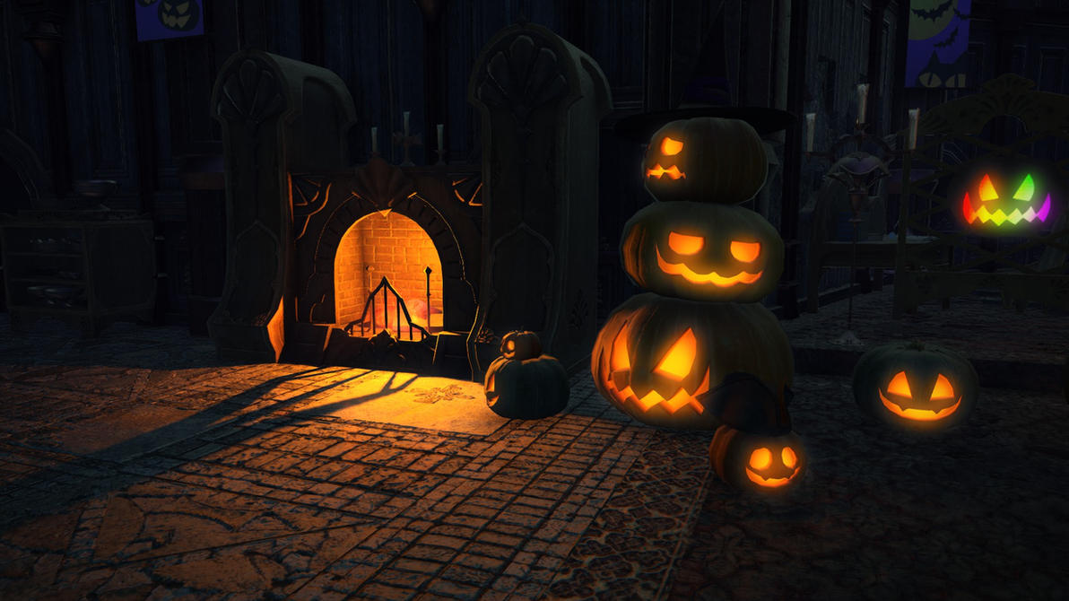 FFXIV: ARR Halloween Pumpkins by RakkineMayhem on DeviantArt