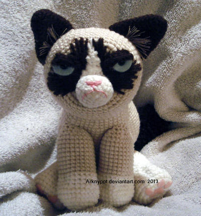 Grumpy Cat Amigurumi Pattern Free : Grumpy Cat Crochet by arknypot on DeviantArt