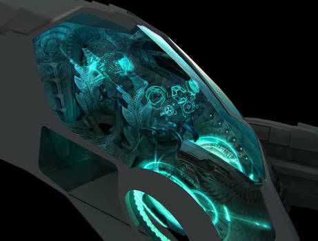 Alien Fighter Cockpit - concept