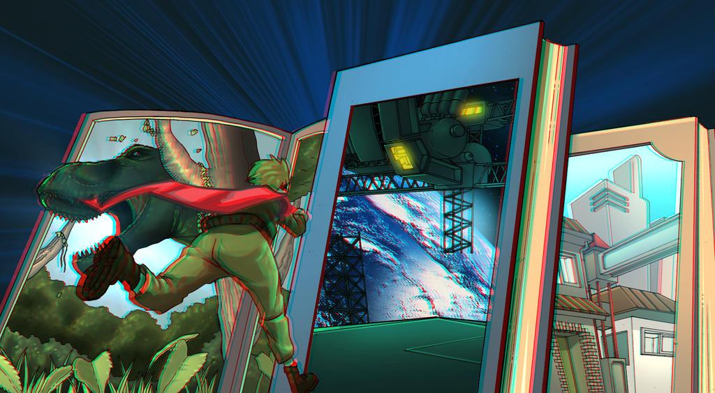 3-D Book by itsgetingwirder
