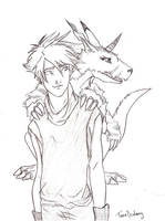 Matt and Gabumon by Dralamy