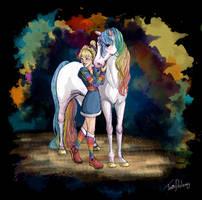 Rainbow Brite and Starlite by Dralamy