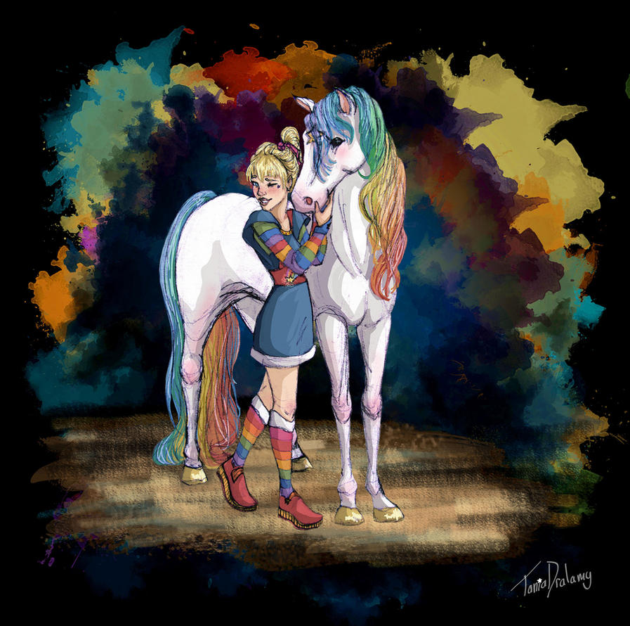 Rainbow Brite and Starlite by Dralamy