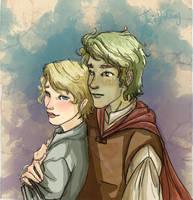 Viana and Uri by Dralamy