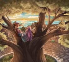 Sunset in Fairy Oak, Vanilla by Dralamy