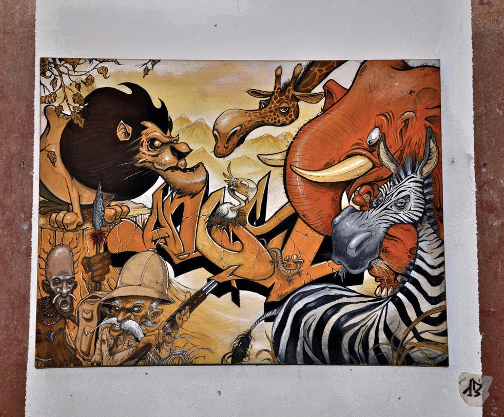 AnusOne-Exhib 'Flesh'n'Bones' 11 by cmdpirxII