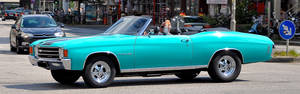 Chevy Chevelle 350 Cabrio on the road