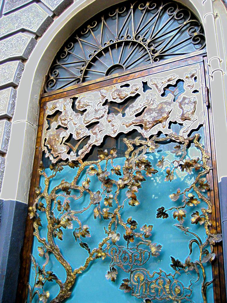 Art nouveau door decor by jjpoatree on deviantart for Art nouveau decoration ameublement