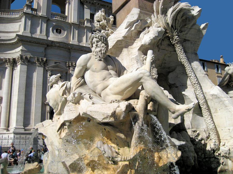 Bernini Four Rivers Fountain 2 by JJPoatree on DeviantArt
