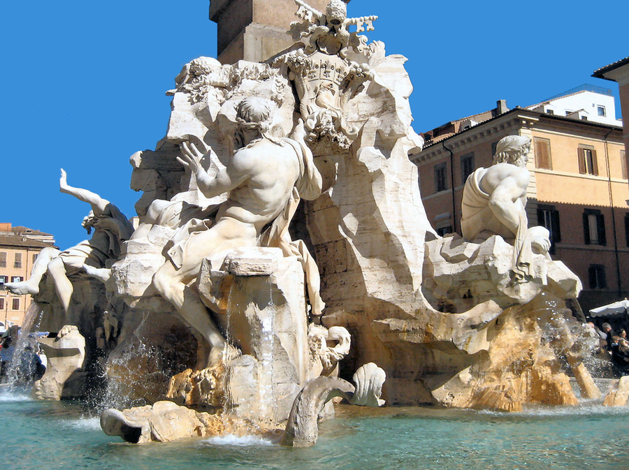 Bernini Four Rivers Fountain 3 by JJPoatree on DeviantArt