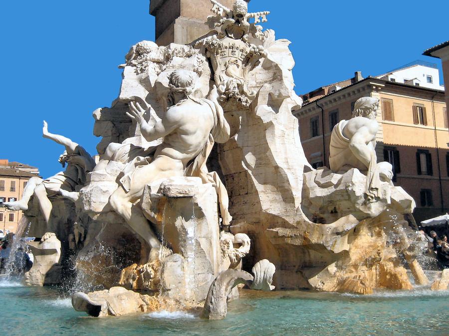 Bernini Four Rivers Fountain 3 by JJPoatree on DeviantArt