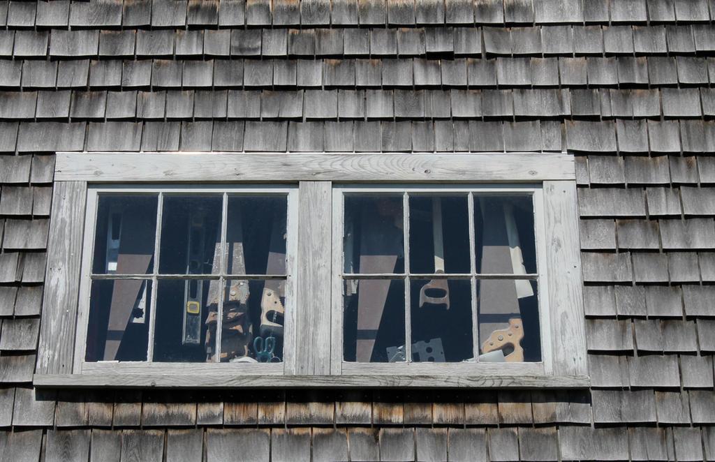 Vinalhaven boatyard barn saw window 2