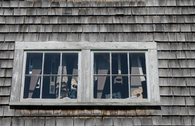 Vinalhaven boatyard barn saw window 2 by JJPoatree