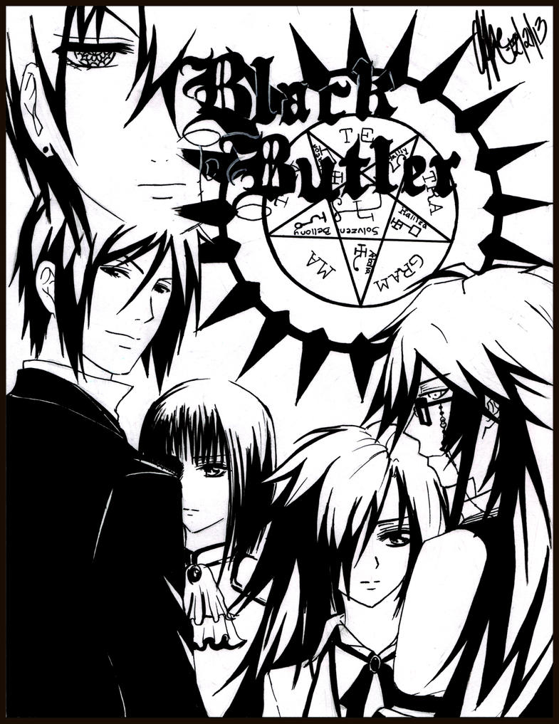 coloring pages of black butler images