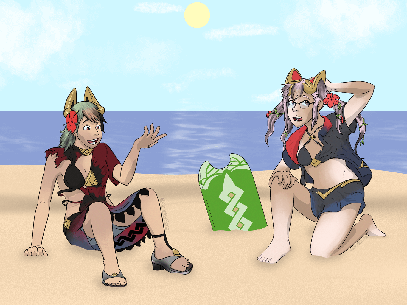 [C] Urban and Kaiza Have a Beach Day!