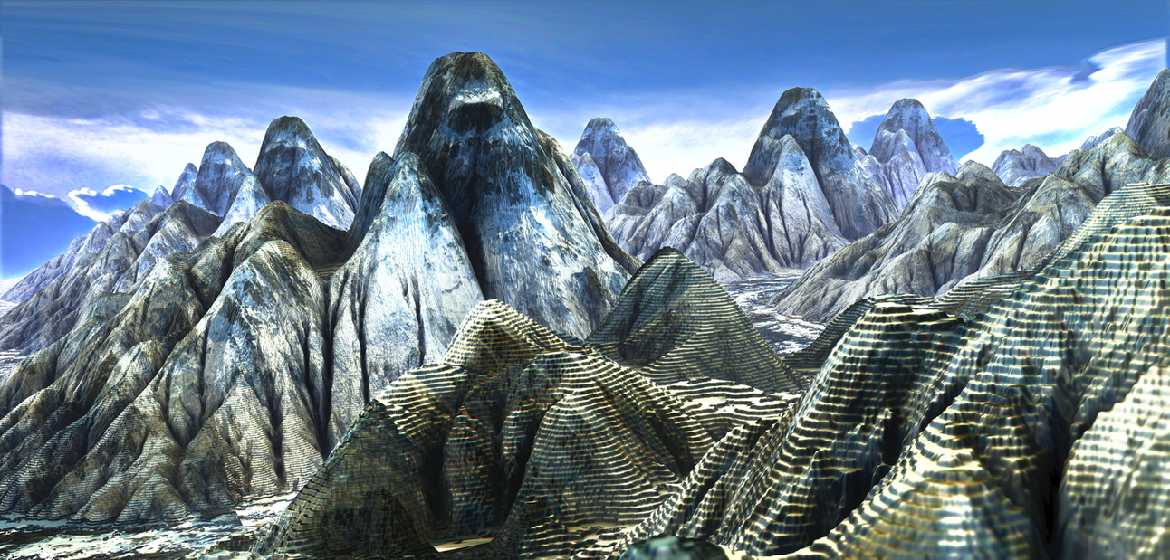 Fragmented Mountains by LukasFractalizator