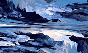 Frozen Waterfall by LukasFractalizator