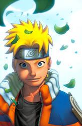 Naruto Portrait colors by danimation2001
