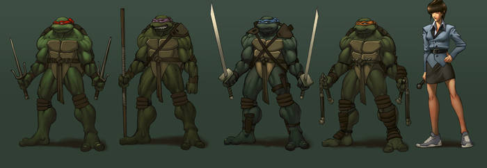 TMNT character designs