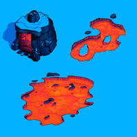 Bleak Lava Entrance by danimation2001