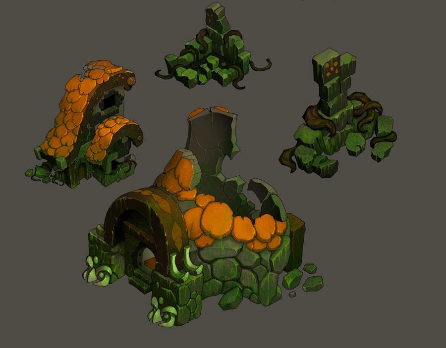 Spring ruins