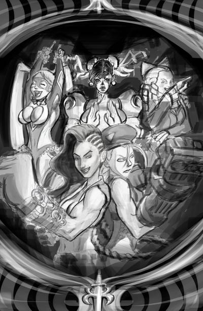 SFV poster digital sketch2 by danimation2001