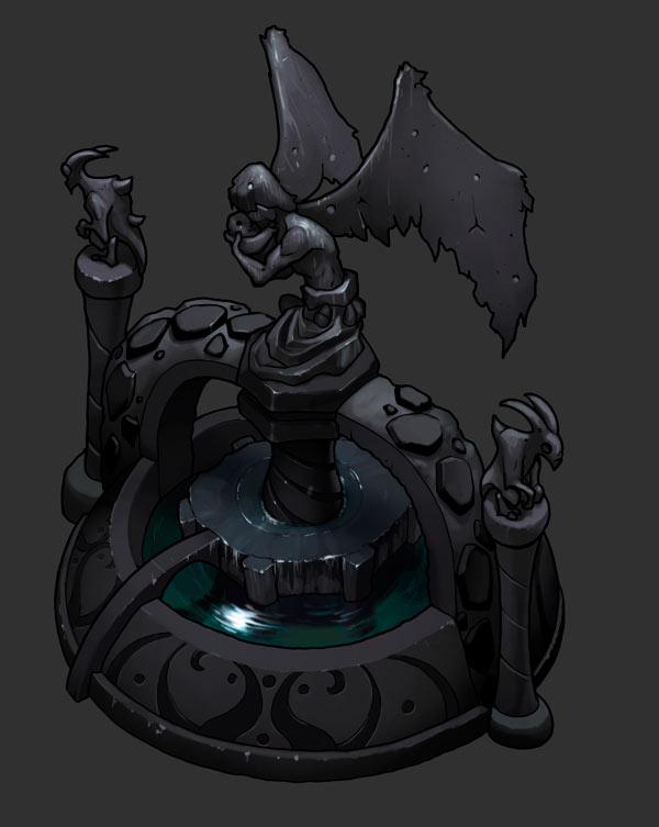 PLaza-Statue gray by danimation2001
