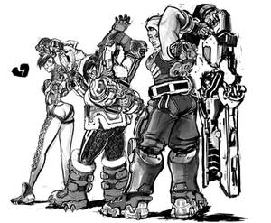 Overwatch-Tracer+Mei+Zarya