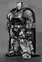 Commission sample Batman digital sketch by danimation2001