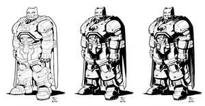 Commission Sample Batman Inks