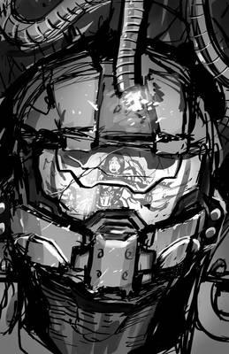digital sketch #0001 halo