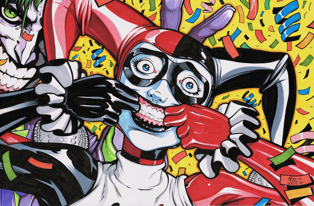 Markers #0003 harley and joker by danimation2001