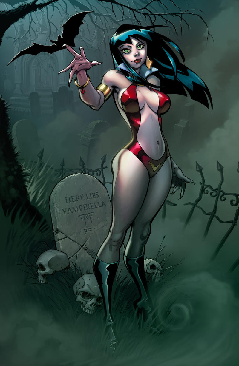 Vampirella By Randygreen Colors By Me by danimation2001