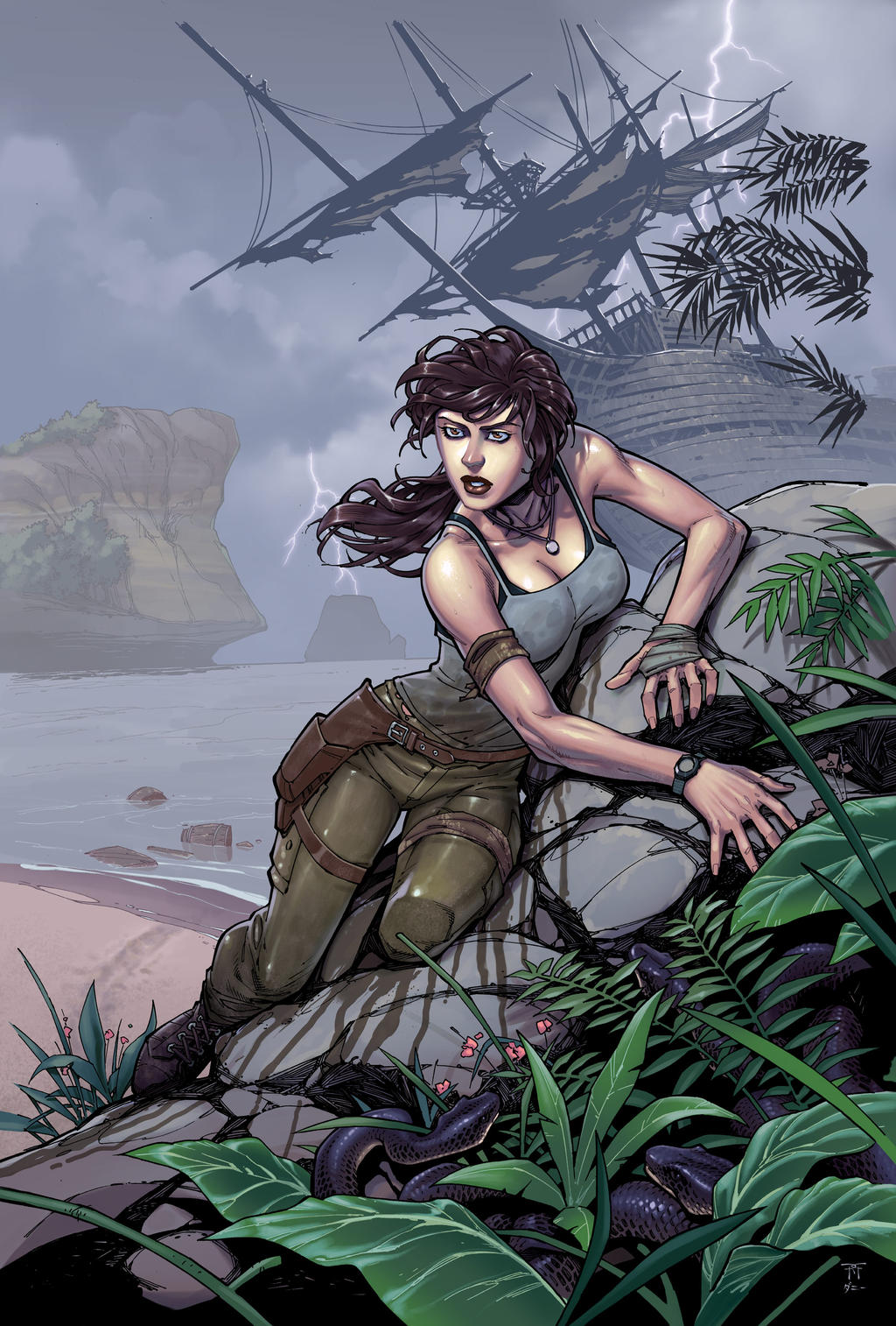 TombRaider by RandyGreen colors by Danimation2001 by danimation2001