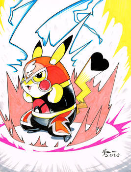 Markers #0007 Pikachu Libre
