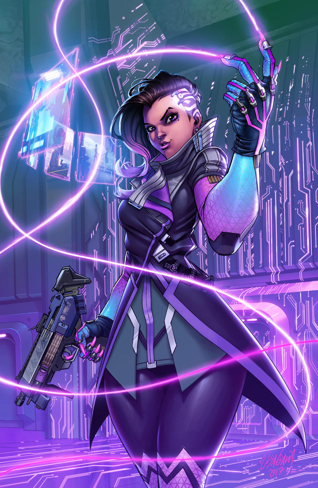 Sombra by Ryan  Odagawa Colors by Danimation2001 by danimation2001
