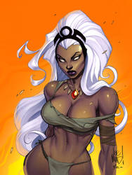 Storm sketch by Joe MAD colors by danimation2001