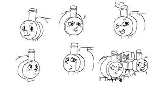 Percy The Small Engine doodles