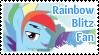Rainbow Blitz Fan Stamp