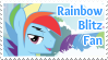 Rainbow Blitz Fan Stamp by NavelColt