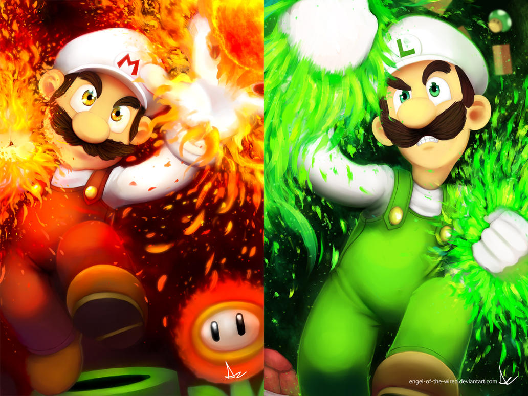 Firaga Mario and Luigi WP by VariaZim