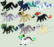 Themed Adopts SORTA by werewolfluva
