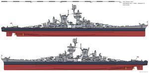 USS Alaska CB-1 (1945) - Measure 22