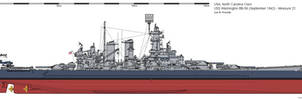 USS Washington BB-56 (September 1942) - Measure 22