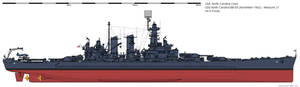 USS North Carolina BB-55 (November 1942) - Ms21